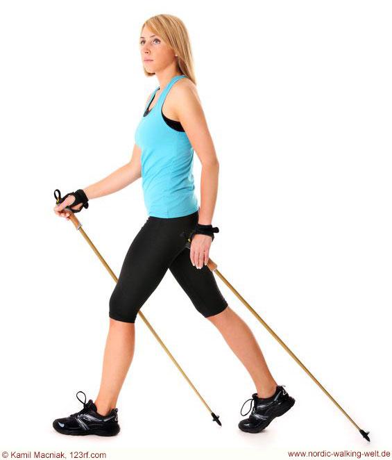 Wichtig beim Nordic Walking ist die richtige Lauftechnik - www.nordic-walking-welt.de