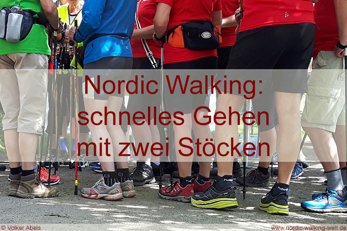 Nordic Walking- schnelle Gehen mit 2 Stöcken - www.nordic-walking-welt.de