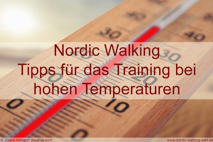 Nordic Walking kann auch bei Hitze im Sommer betrieben werden - www.nordic-walking-welt.de