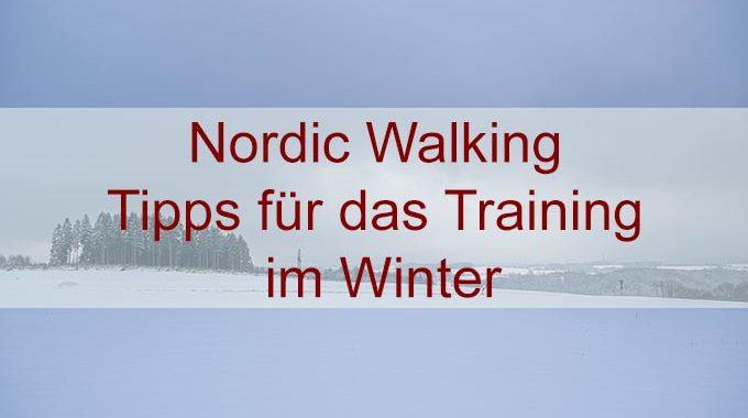 Nordic Walking – Laufen bei Minusgraden