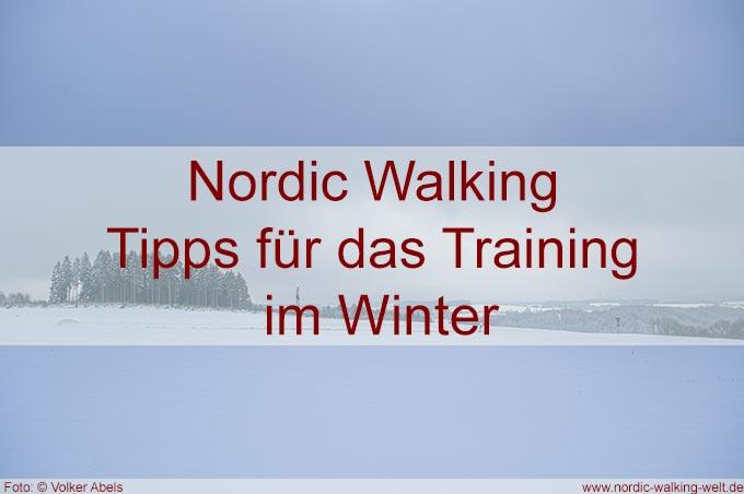 Nordic Walking - Tipps für das Training im Winter