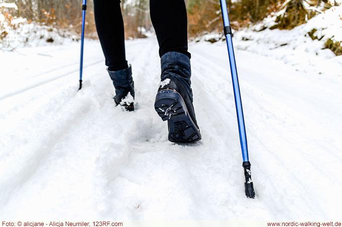 Auch im Winter macht Nordic Walking viel Spaß