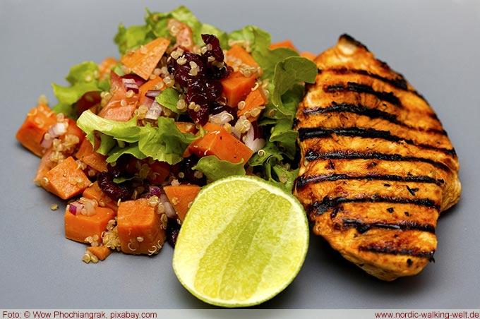 Eiweßhaltige Speisen helfen beim Abnehmen und Muskelaufbau
