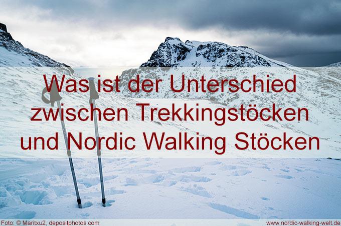 Unterschied Wanderstöcke – Nordic Walking Stöcke