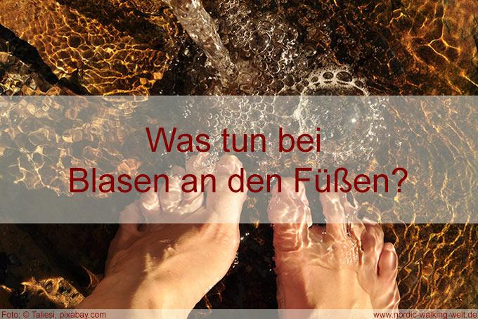 Fuß im Wasser -Blase am Fuß - was tun?
