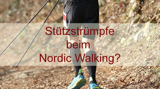 Stützstrümpfe beim Nordic Walking